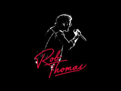 Rob Thomas - 80s Scream for hire apparel merch smooth rob thomas bandmerch matchbox 20