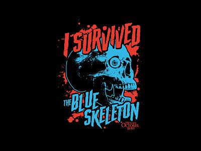 The Houses October Built - Blue Skeleton apparel design apparel merch design merch survive horror art skull skeleton horror movie horror
