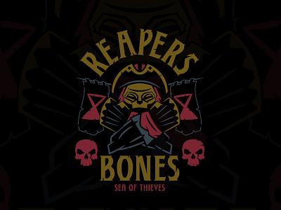 Sea of Thieves - Reapers Bones shirt design twitch videogames logo skull logo apparel logo grim reaper reaper skull and crossbones skeleton skull shirts apparel graphicdesign shirtdesign emblem pirate xbox videogame sea of thieves