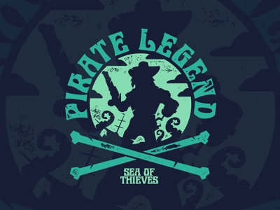 Sea of Thieves - Sunset Legend logo pirategraphic beach vintage pirates of the caribbean pirates graphic shirt graphic tee shirt videogame xbox pirate ship sea life kraken sea creature fashion apparel pirate sea of thieves
