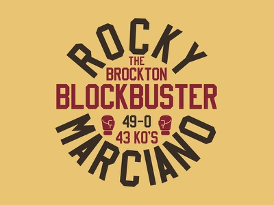 The Brockton Blockbuster tshirt graphic type vintage illustration boxing