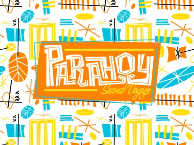 Parahoy Pattern paramore retro summer beach tiki type pattern