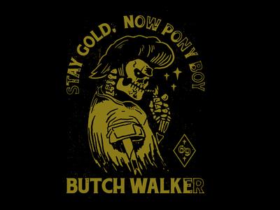 Butch Walker - Greaser Skull rockabilly skull vintage 50s greaser butch walker