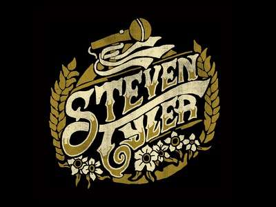 Steven Tyler - Somebody for Somewhere illustration sketch lettering hand made type steven tyler