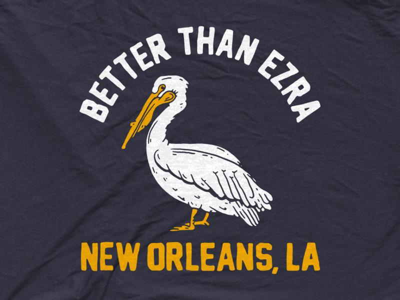 Better than Ezra - Pelican bandmerch simple drawing vintage illustration bird nola new orleans pelican better than ezra