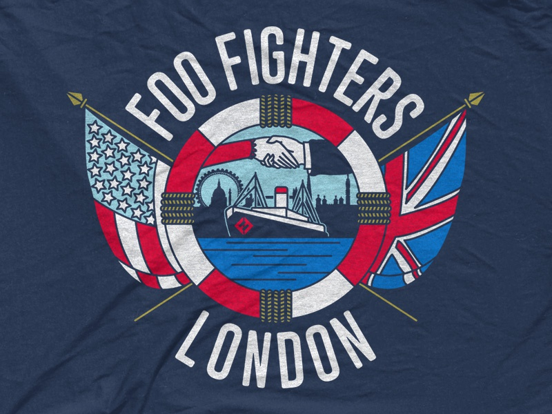 Foo Fighters British Foo By Corey Thomas Dribbble