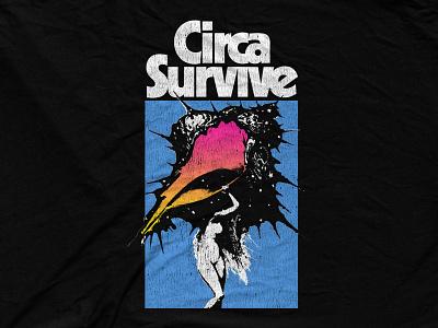 Circa Survive - Vintage Shell bandmerch gradient retro vintage shell circa survive