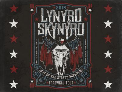Lynyrd Skynyrd - Houston Poster