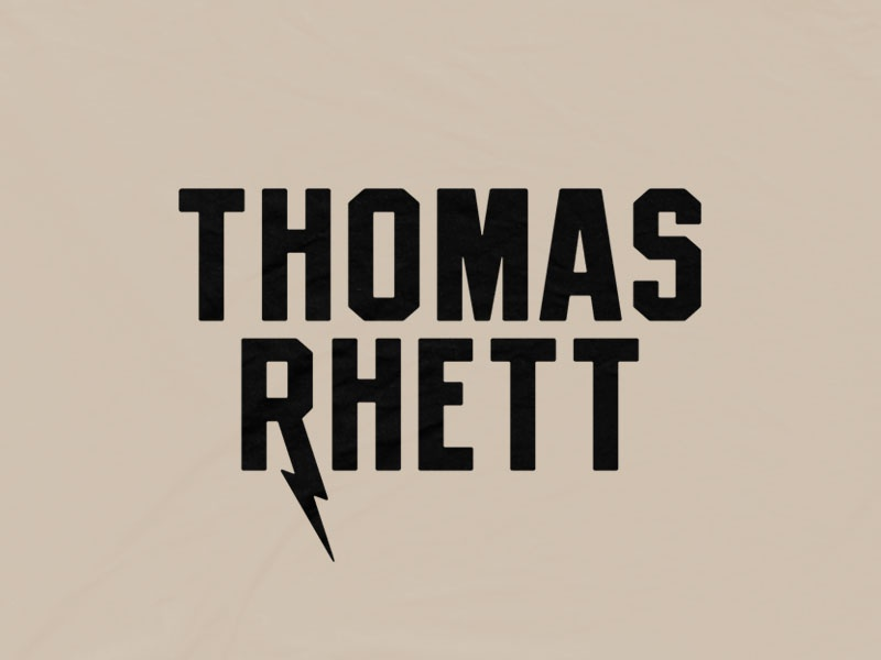 Thomas Rhett - Bolt typography bandmerch logo music country thomas rhett