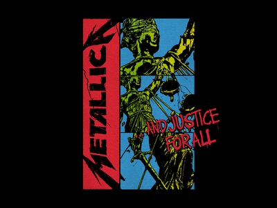 Metallica - Justice Boxes fashion apparel bandmerch rock n roll vintage and justice for all metallica