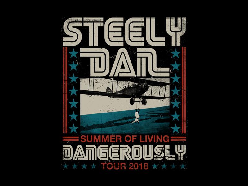 Steely Dan - Stune Plane bandmerch tour retro retro type vintage poster daredevil steely dan