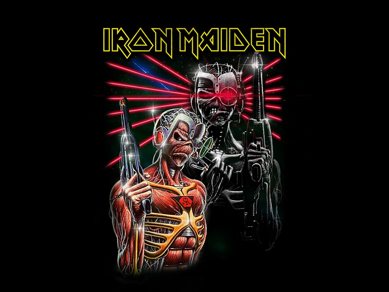 Iron Maiden - Terminator eddie fashion apparel bandmerch 80s retro vintage scifi terminator iron maiden