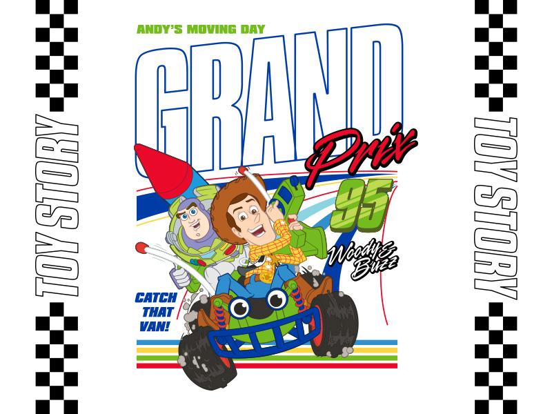 Toy Story - Grand Prix vintage design logo tshirt merch fashion buzz woody disney nascar racing apparel target animation pixar toy story