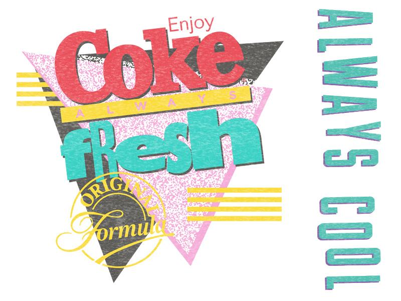Coca-Cola - 90s Fresh throwback retro badge apparel design retro merch shirt macys vintage apparel cocacola coke 90s