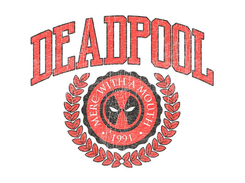 Deadpool - Merc University design university disney marvel vintage retro graphic design graphic tee badge emblem college deadpool