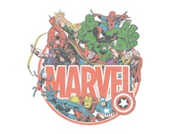 Marvel - Retro Collage