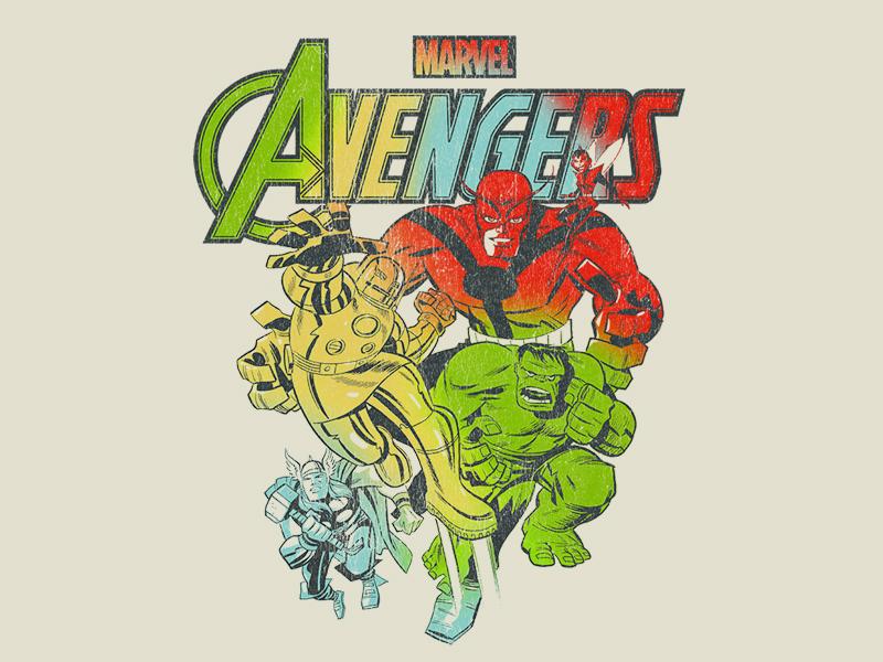 Avengers - Rainbow Gradient apparel graphic tee art fashion mcu marvel comics antman thor iron man hulk comics disney marvel avengers