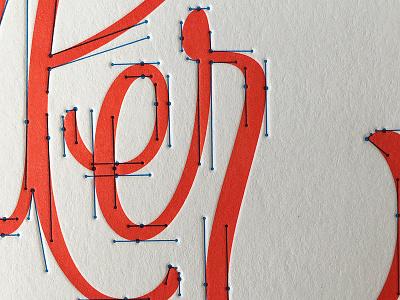Curve Handler beziers lettering letterpress