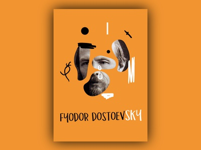Fyodor Dostoevsky abstraction poster collage dostoevsky writers literature