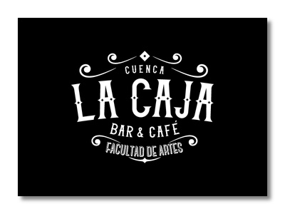 La Caja - Bar & Café identity brand branding