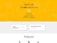 OpenTalk - Landing Page Design