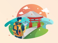 Travel Boy Illustration