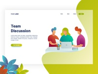 Team Discussion   Landing Page