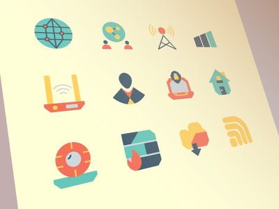 Internet and Network Icons flat iconset iconography icon uiux user ui interface web design illustration