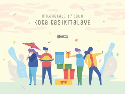 Milangkala 17 Taun Kota Tasikmalaya indonesia jawabarat city tasikmalaya birthday user interface web character design illustration