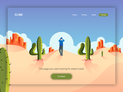 404 Error Page 404 error page error 404 vector landingpage character uiux user ui interface web design illustration