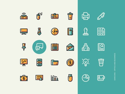 Office and Business Icon Sets - Dancons iconset iconography icon uiux user ui interface web illustration design