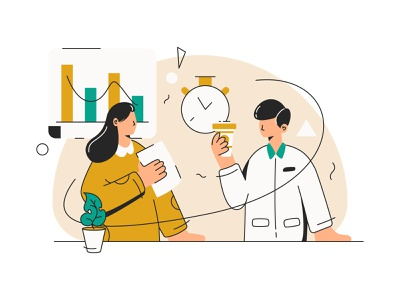 Discussion in break time discussion line landingpage uiux character user ui interface web illustration design