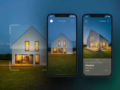 AR app concept ar app design ar app augmented reality app design real estate scanning app design ui design mobile app concept mobile app design augmented reality