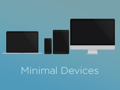 Minimal Devices minimal device iphone imac macbook html css sass