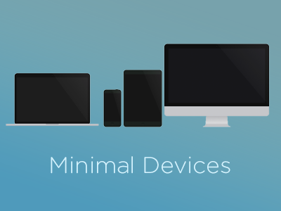 Minimal Devices minimal device iphone imac macbook html css sass