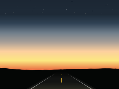 Down The Road stars drive sunset road