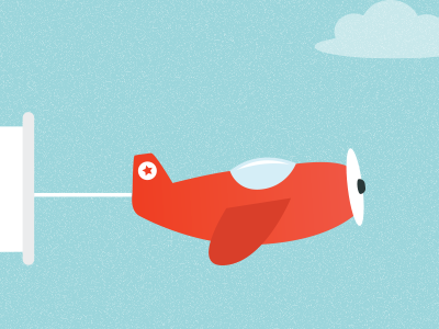 Plane plane illustration babyshower