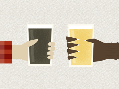 Cheers illustration beer cheers