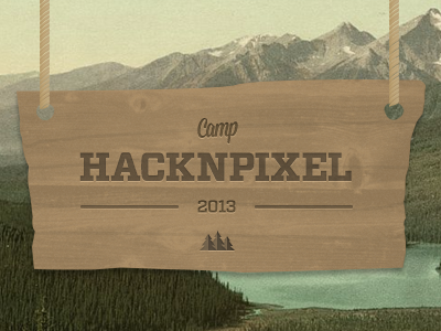 Hacknpixel sign camping nature