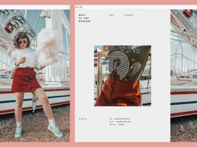 OOTD Blog Concept landing homepage interface web design ux split grid simple layout web clean minimal editorial style blog fashion website