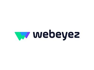 Webeyez Logo insights visualization data iceberg logo