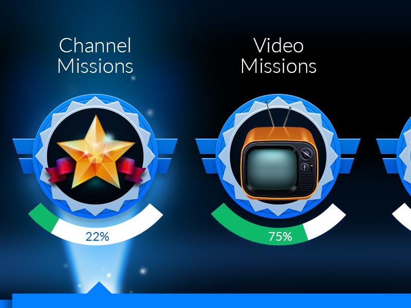 Mission Badges star tv mission badge televition beam light