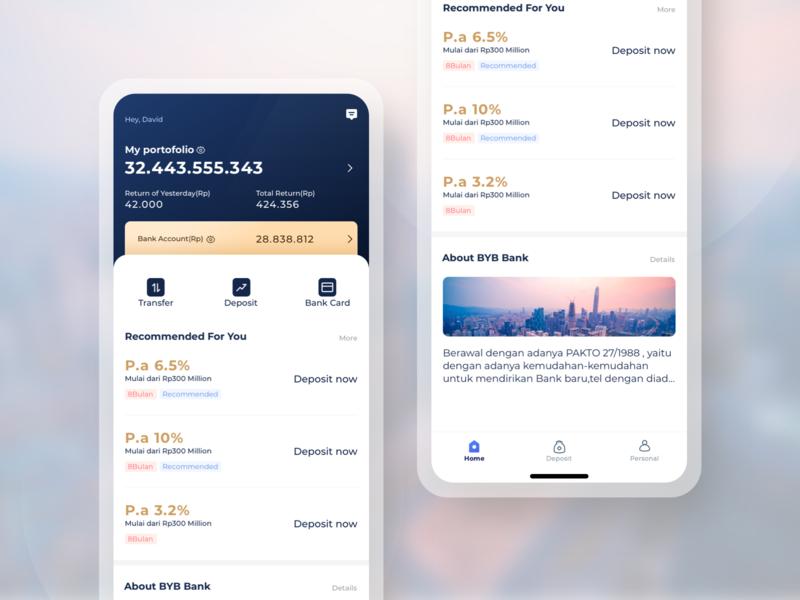 Bank app design invest bank app finance ui