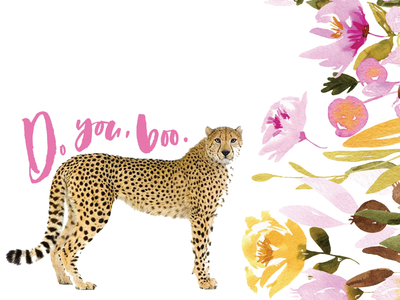 Hand lettered Cheetah Background