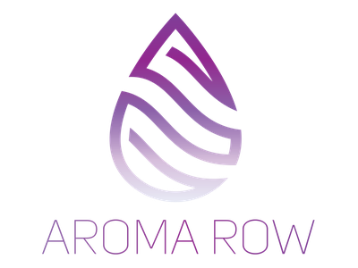 Aromatherapy/Essential Oil Company Logo waterdrop raindrop teardrop purple logo typography aromatherapy essential oils logo design logo