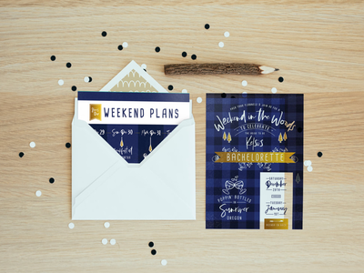 New Years Eve Bachelorette Weekend Invitations