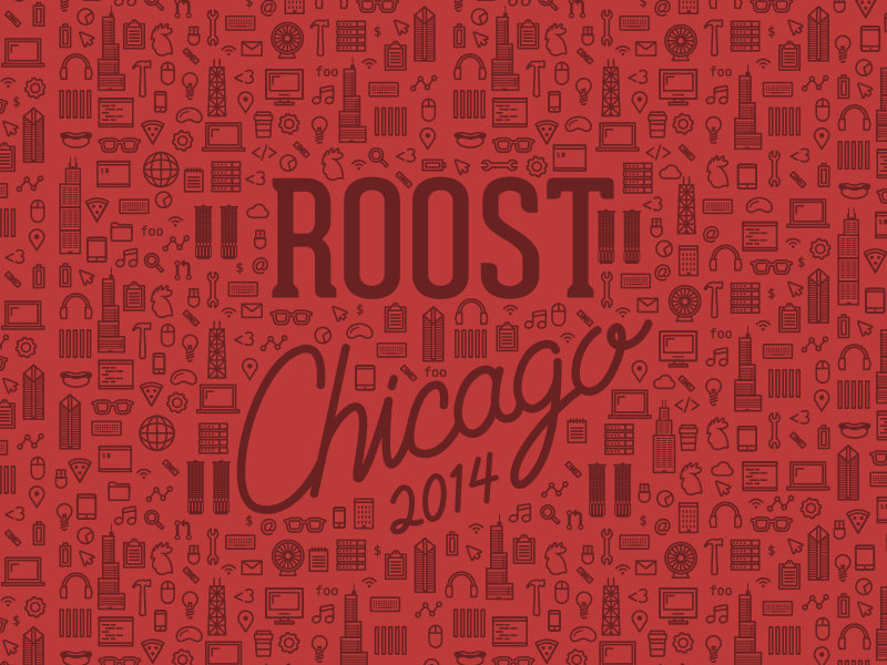Roost Chicago conference t-shirt javascript programming open source chicago icons