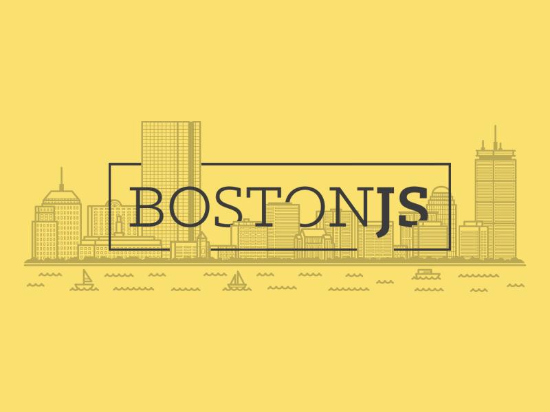 BostonJS  skyline illustration meetup javascript boston