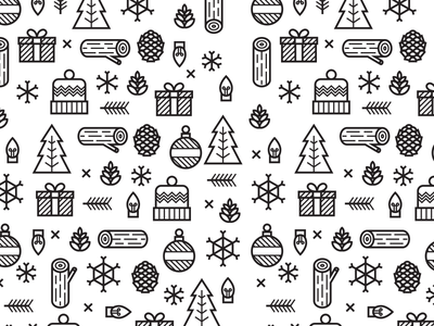 Holiday Pattern 2 winter flat design icons patter holiday