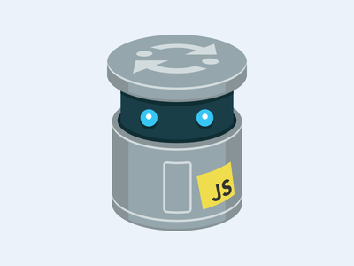 JS Bin bin programming code robot logo illustration